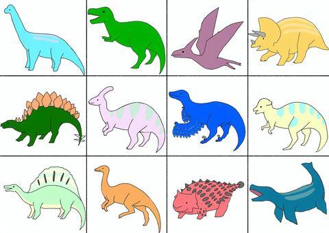 恐竜詰め合わせ12種類左向き