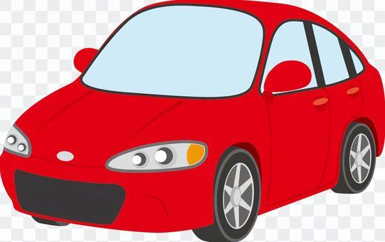 汽車(轎車A)紅色