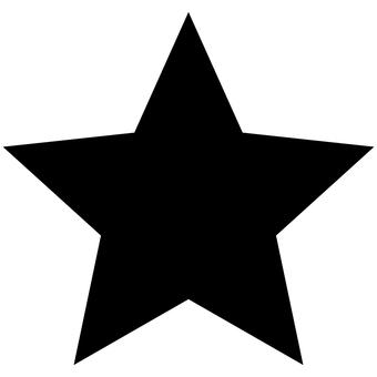Picto star favorite mark black coloring