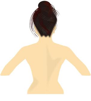 女人的背部