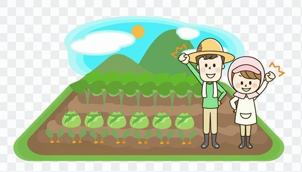 農舍夫婦和領域風景2-4 o
