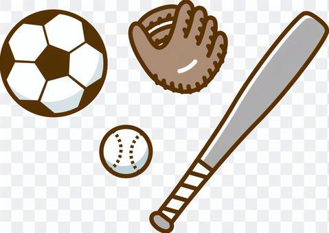 足球和棒球設備