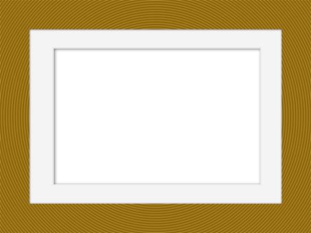 圓形相框和白色磨砂相框