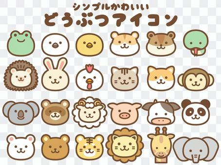 Animal face icon_color main line available