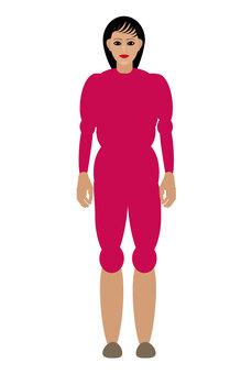人們粉紅色的衣服女士們