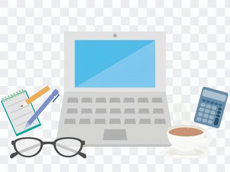 計算機工作的插圖