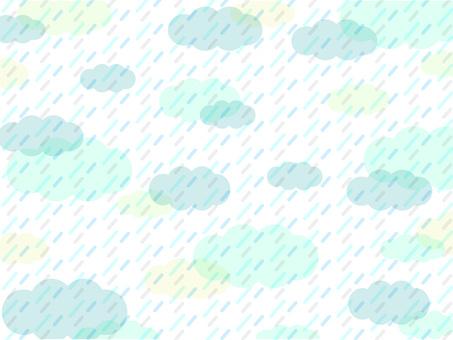 雨壁紙綠色