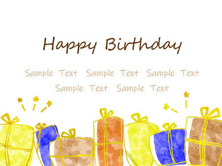 Present background birthday card