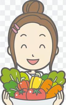 新的妻子主婦d  - 蔬菜 - 胸圍
