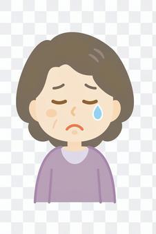 老婦_哭泣的臉