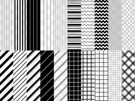 簡單線條圖案20 /無縫