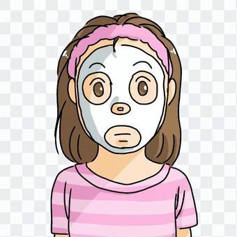 女人穿著面膜