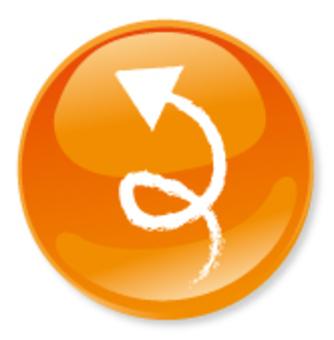 手繪製的箭頭圖標 - 橙色