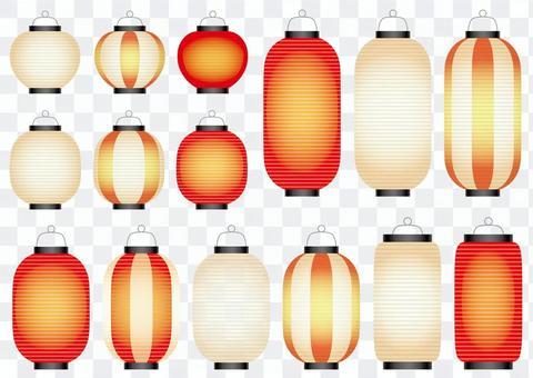 Lantern illustration set