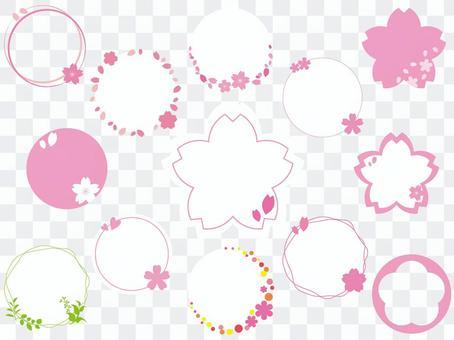 Spring circle set 01