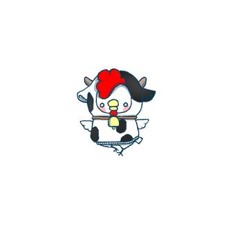 ニワトリ君♂被り物(牛)