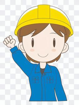 工场女性作业员D