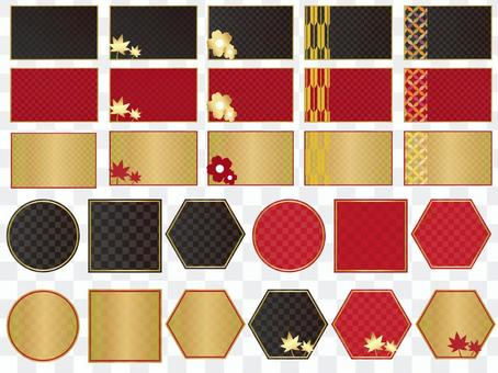日本風格的背景框架
