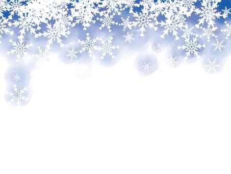 水彩模糊雪