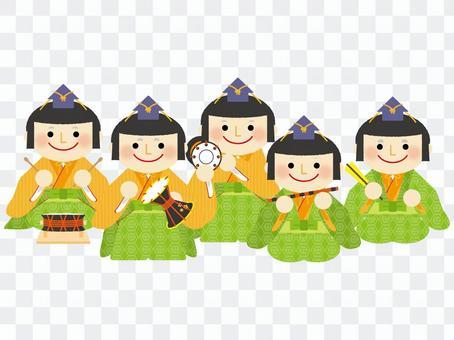 Five-folk musicians