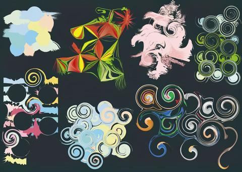 免費的材料免費材料幾何圖案集