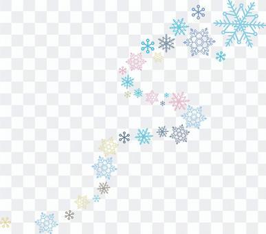 Snow crystal spark