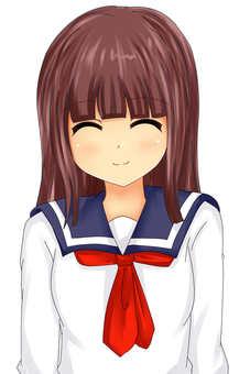 女孩微笑制服