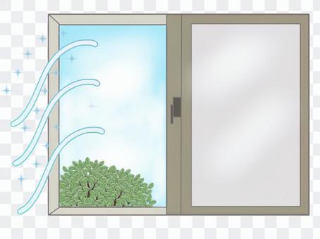 窓を開けて空気を入れ替えましょう