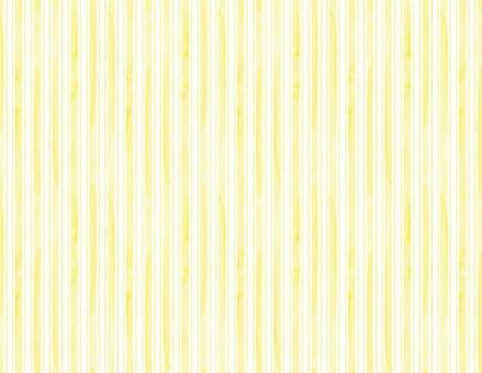 水彩風ストライプ背景_黄色-白