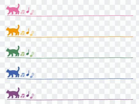 Simple cat crayon line set