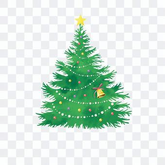 聖誕樹002水彩紋理