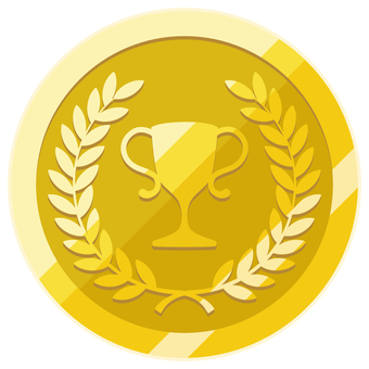 Gold medal trophy