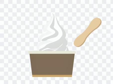 軟杯冰淇淋,香草味