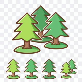 森林(針葉樹・スギ・ヒノキ)の無料素材