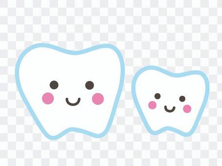 牙齒父母和孩子