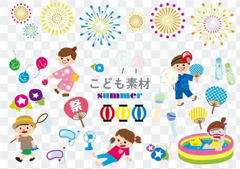 儿童的材料夏天节日