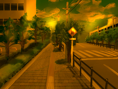 Loose school road / evening