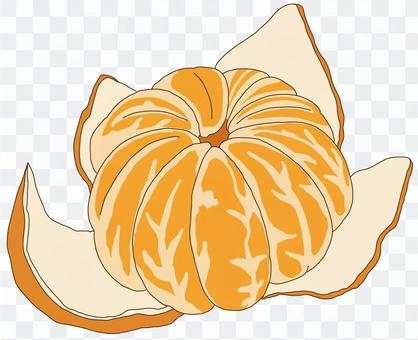 去皮的橘子