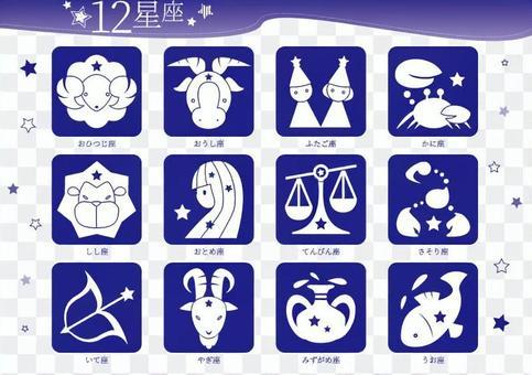 12星座 ピクトグラム(セット)