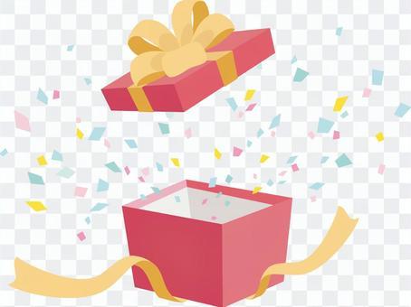 禮品盒和五彩紙屑