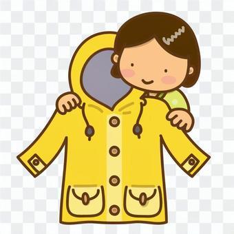 冬天的外套和女孩