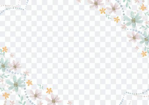 少女材料059花框架