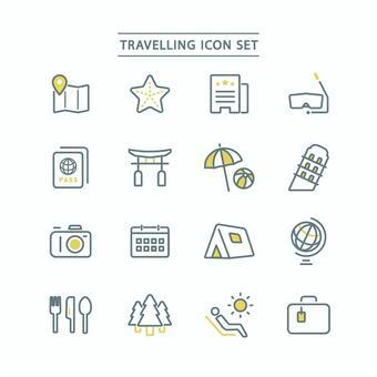旅行圖標集