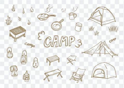 野營的各種插圖