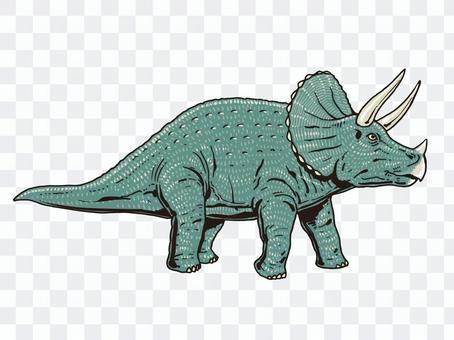 Triceratops dinosaur series vector