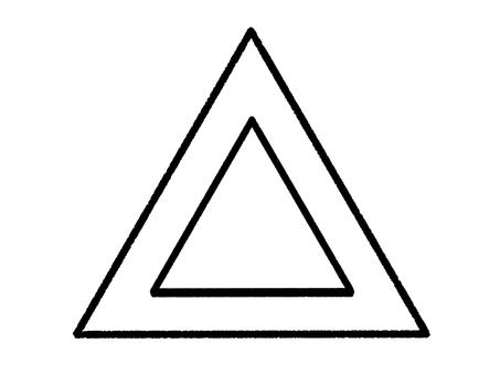 三角形/線描