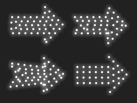 箭頭照明材料組:白色