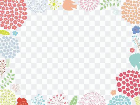 봄의 꽃 프레임