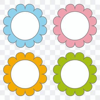 Nameplate flower set 1