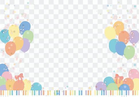 鍵盤和氣球框架